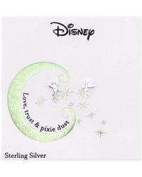 Disney - Metallic Tinker Bell Stud Earrings In Sterling Silver - Lyst