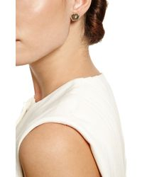 Kimberly Mcdonald Green One Of A Kind Tourmaline and Diamond Stud Earrings