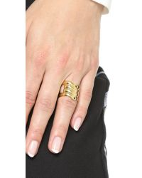 Elizabeth and James Metallic Ando Ring - Gold Multi