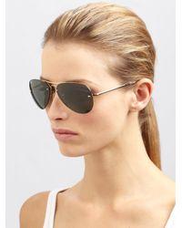 Ray-Ban Green Original Polarized Aviator Sunglasses