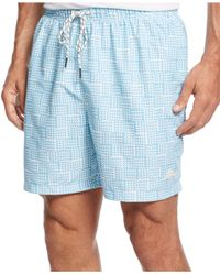 Tommy Bahama | Blue Naples Mosaic Swim Trunks for Men | Lyst
