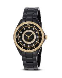 kate spade new york - Black Pavé Enamel Seaport Grand Watch, 38Mm - Lyst