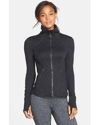 Zella | Black 'Flirt' Ruffle Back Jacket | Lyst