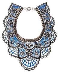 Annelise Michelson Blue Silicon Lace Necklace