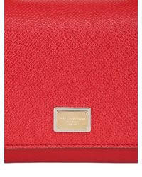 Dolce & Gabbana - Red Jeans Dauphine Leather Shoulder Bag - Lyst