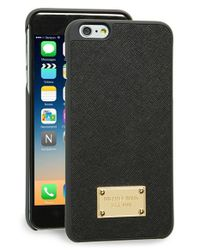 MICHAEL Michael Kors Black Saffiano Leather Iphone 6 Plus & 6s Plus Case