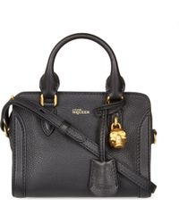 Alexander McQueen | Black Padlock Leather Mini Cross-body Bag | Lyst