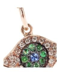 Ileana Makri | Pink 18kt Rose Gold Eye Necklace With Brown Diamonds | Lyst