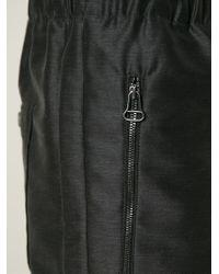 Lanvin | Black Elasticated Waist Trousers for Men | Lyst