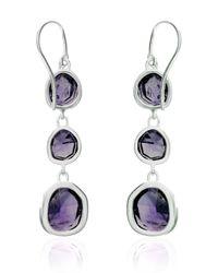 Monica Vinader | Purple Siren Wire Cocktail Earrings | Lyst