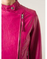 P.A.R.O.S.H. | Pink Marvel Biker Jacket | Lyst