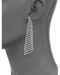 Michael Kors | Metallic Park Avenue Glam Pavé Mesh Triangle Drop Earrings | Lyst