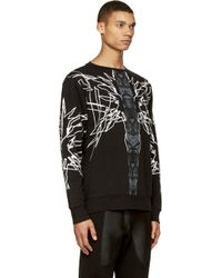 Marcelo Burlon Black Sang Bleu Sweatshirt for men