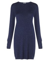 Whistles Blue Annie Sparkle Knit Dress