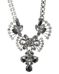 Pieces - Metallic Necklace / Longcollar - Lyst