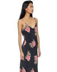 Blue Life | Blue Boho Beauty Dress - Black Peach Floral | Lyst