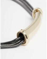 Oasis - Multicolor Snake Chain Bar Choker - Lyst