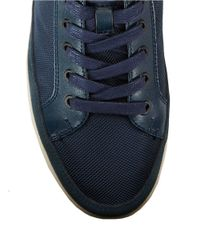 Calvin Klein - Blue Zal Suede And Leather Lace-up Sneakers for Men - Lyst