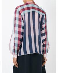 Marco De Vincenzo Multicolor Striped Sheer Shirt