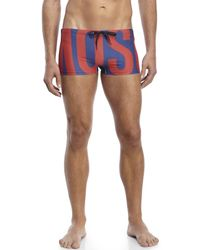 Moschino | Blue Logo Print Swim Trunks for Men | Lyst