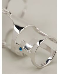 Maria Francesca Pepe Metallic Articulated Finger Ring