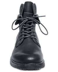Steve Madden | Black Madden Neptun Plaid Collar Boots for Men | Lyst