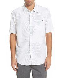 Rip Curl - White 'firenza' Short Sleeve Sport Shirt for Men - Lyst