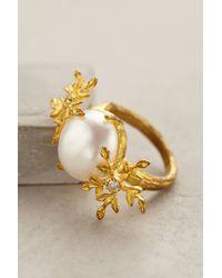 Indulgems | Metallic Pearl Field Ring | Lyst