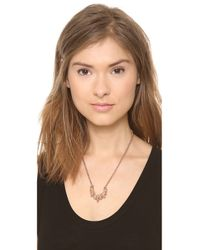 Pamela Love Metallic Small Tribal Spike Necklace - Rose Gold