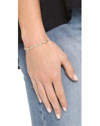 Shashi | Metallic Ballerina Tennis Bracelet | Lyst