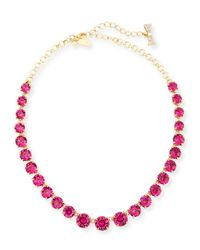 kate spade new york | Purple Graduated Crystal Statement Necklace | Lyst