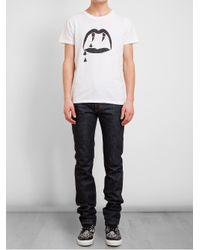 Saint Laurent | White Dracula Lip Printed Cotton Tshirt for Men | Lyst