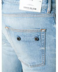 Stone Island - Blue Slim Jeans for Men - Lyst