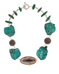 Stephen Dweck | Blue Turquoise Agate Slice Necklace | Lyst
