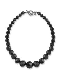 Carolee | Black Jet Crystal Beaded Necklace | Lyst