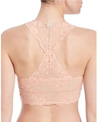 Free People Natural Lace Racerback Bralette