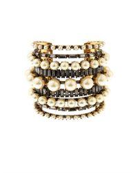 Erickson Beamon Metallic Stratosphere Faux-Pearl & Crystal Cuff