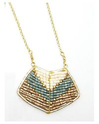 Nakamol - Multicolor Magdalene Pendant Necklace-teal - Lyst