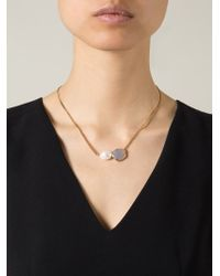 Wouters & Hendrix Gray Grey Agate And Pearl Necklace