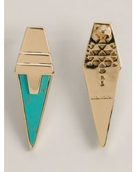 Eddie Borgo | Metallic Inlaid Drop Earrings | Lyst