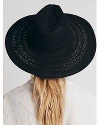 Free People - Black Lace Lover Wide Brim Hat - Lyst