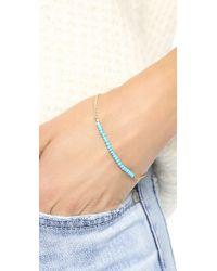 Shashi - Blue Natasha Bracelet - Gold/turquoise - Lyst