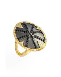 Freida Rothman - Metallic Geometric Cocktail Ring - Lyst