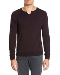 John Varvatos | Purple Raglan Sweatshirt for Men | Lyst