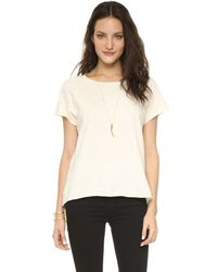 The Lady & The Sailor - Raglan Tee - Natural - Lyst