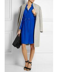 Acne Studios - Blue Silk Crepe De Chine Shirt Dress - Lyst