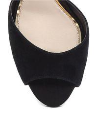 Jessica Simpson Black Bonney Peep Toe Suede Sandals