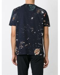 Valentino Blue Space Print T-Shirt for men