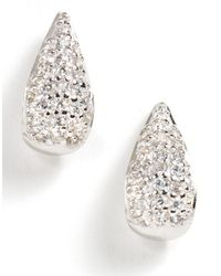 Lord & Taylor | White Sterling Silver Cubic Zirconia Earrings | Lyst