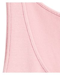 H&M - Pink Basic Vest Top - Lyst
